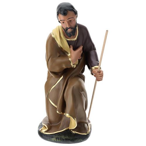 Statua Giuseppe gesso dipinto a mano presepe 60 cm Arte Barsanti 1