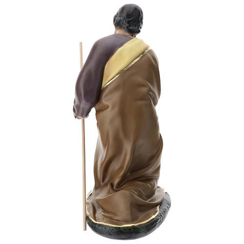 Statua Giuseppe gesso dipinto a mano presepe 60 cm Arte Barsanti 5
