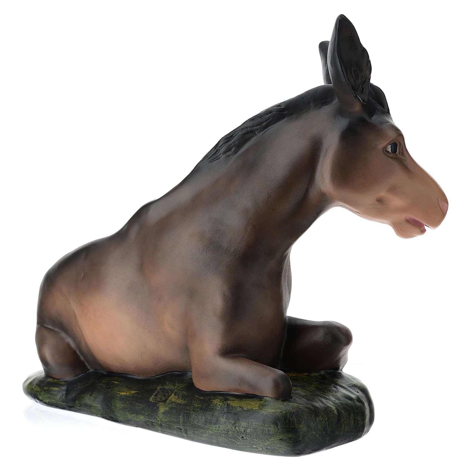 Estatua burro de yeso belén 60 cm Arte Barsanti 4
