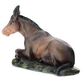 Estatua burro de yeso belén 60 cm Arte Barsanti s5