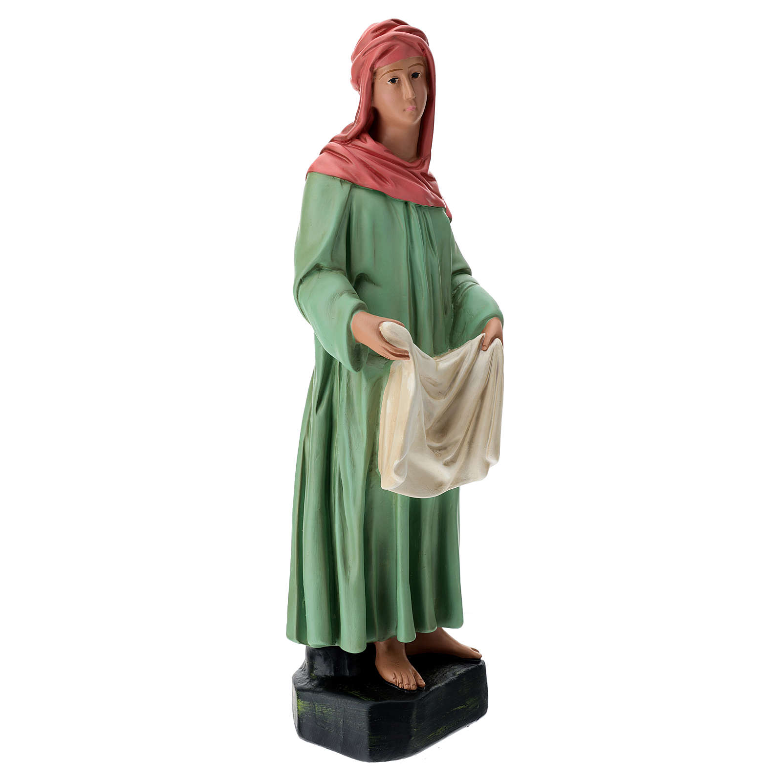Estatua lavandera velo y ropa belén 60 cm Arte Barsanti 4