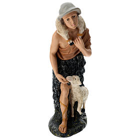 Statua pastore con pecorelle 60 cm s1
