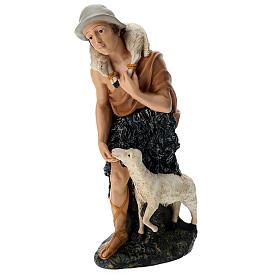 Statua pastore con pecorelle 60 cm s3