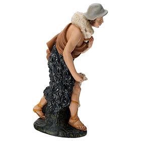 Statua pastore con pecorelle 60 cm s4