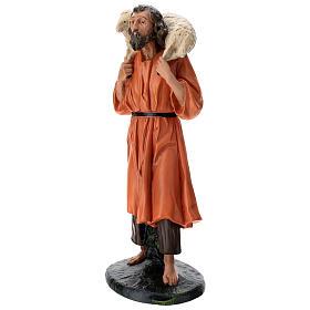 Estatua pastor y oveja sobre las espaldas 60 cm Arte Barsanti s3
