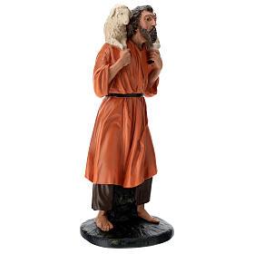 Estatua pastor y oveja sobre las espaldas 60 cm Arte Barsanti s4