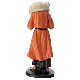Estatua pastor y oveja sobre las espaldas 60 cm Arte Barsanti s5