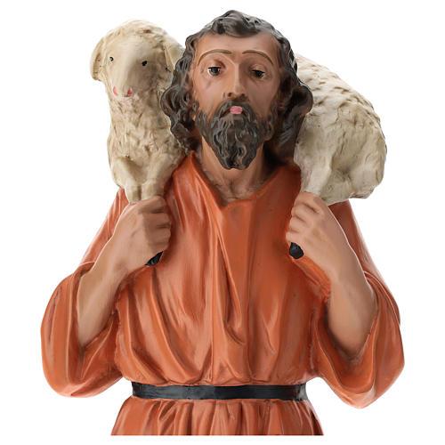 Estatua pastor y oveja sobre las espaldas 60 cm Arte Barsanti 2