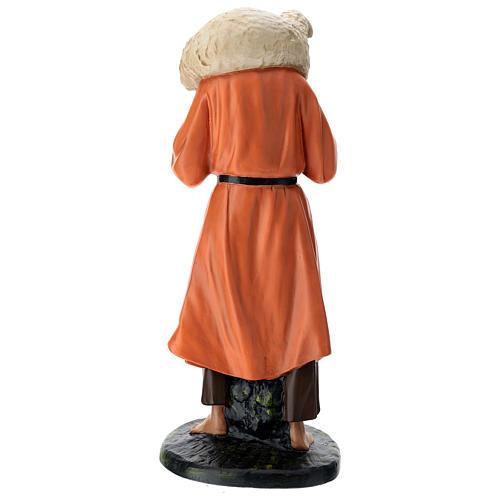 Estatua pastor y oveja sobre las espaldas 60 cm Arte Barsanti 5