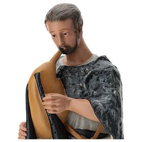 Pastor con gaita yeso pintado belén 60 cm Arte Barsanti s2