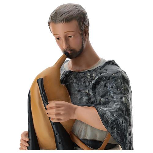 Pastore con zampogna gesso dipinto presepe 60 cm Arte Barsanti 2