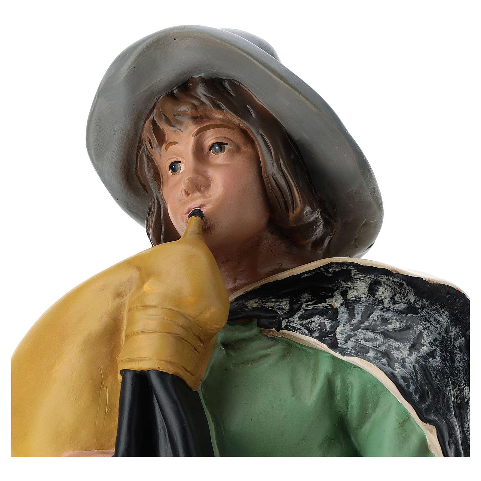 Estatua gaitero con sombrero belén Arte Barsanti 60 cm 4