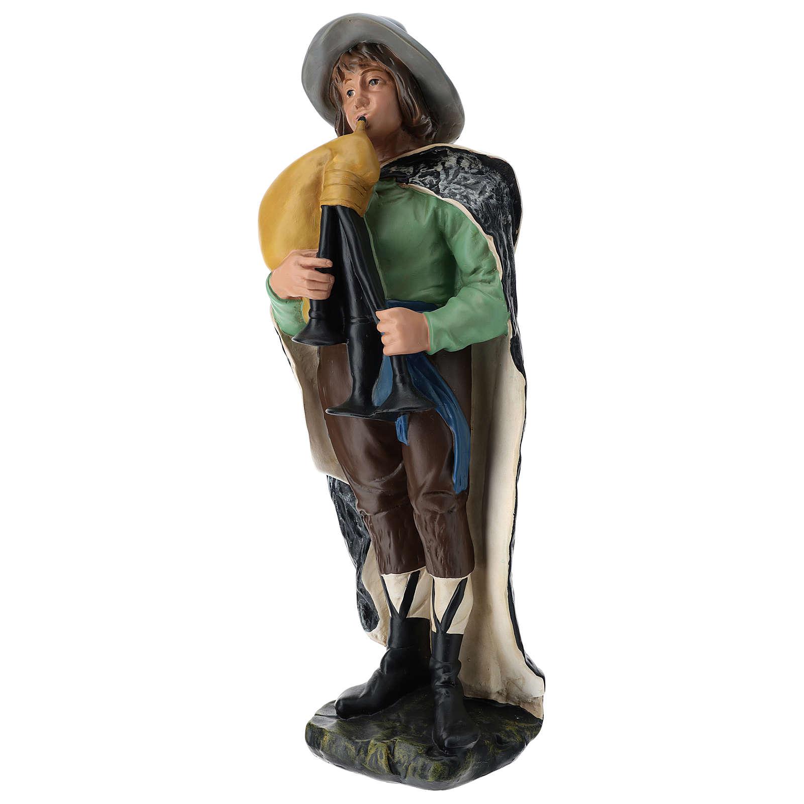 Statua zampognaro con cappello presepe Arte Barsanti 60 cm 4
