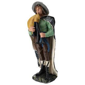 Statua zampognaro con cappello presepe Arte Barsanti 60 cm s3