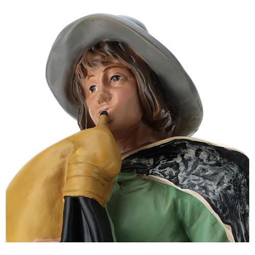 Statua zampognaro con cappello presepe Arte Barsanti 60 cm 2