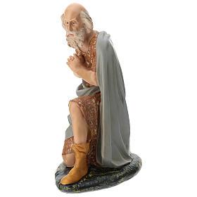 Statua pastore anziano seduto presepe Arte Barsanti 60 cm s3