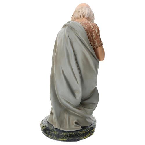 Statua pastore anziano seduto presepe Arte Barsanti 60 cm 5