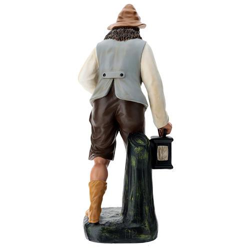 Estatua pastor con tronco y linterna 60 cm Arte Barsanti 5