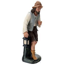 Statua pastore su tronco con lanterna 60 cm Arte Barsanti s4