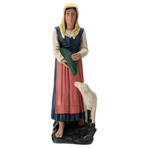 Estatua pastora con verdura y oveja 60 cm Arte Barsanti 1