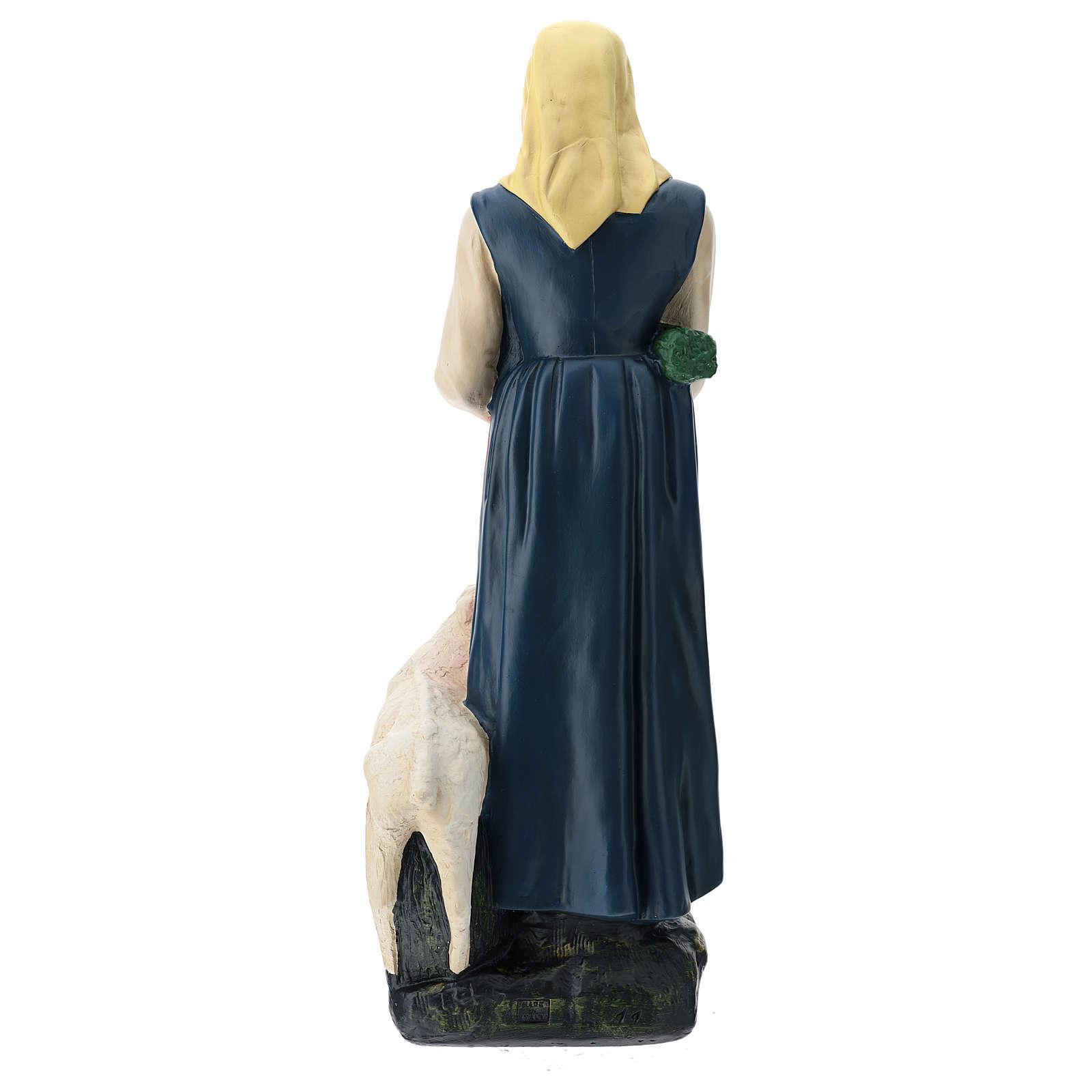 Statua pastorella con verdura e pecora 60 cm Arte Barsanti 4