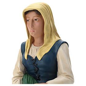 Statua pastorella con verdura e pecora 60 cm Arte Barsanti s2