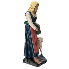 Statua pastorella con verdura e pecora 60 cm Arte Barsanti s4