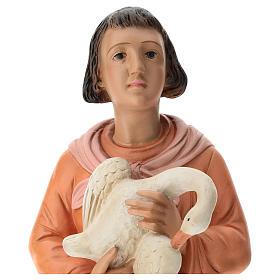 Estatua mujer con ganso pintado belén Arte Barsanti 60 cm s2