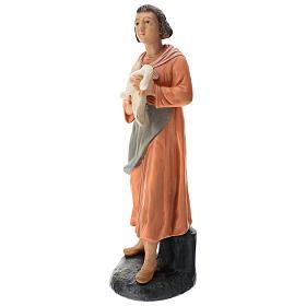 Estatua mujer con ganso pintado belén Arte Barsanti 60 cm s3