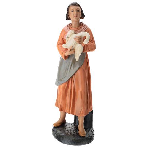 Estatua mujer con ganso pintado belén Arte Barsanti 60 cm 1
