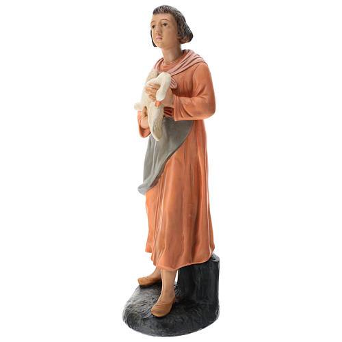 Estatua mujer con ganso pintado belén Arte Barsanti 60 cm 3
