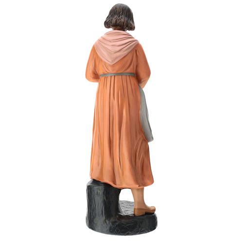 Estatua mujer con ganso pintado belén Arte Barsanti 60 cm 5