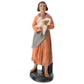 Statua donna con oca gesso dipinto presepe Arte Barsanti 60 cm s1