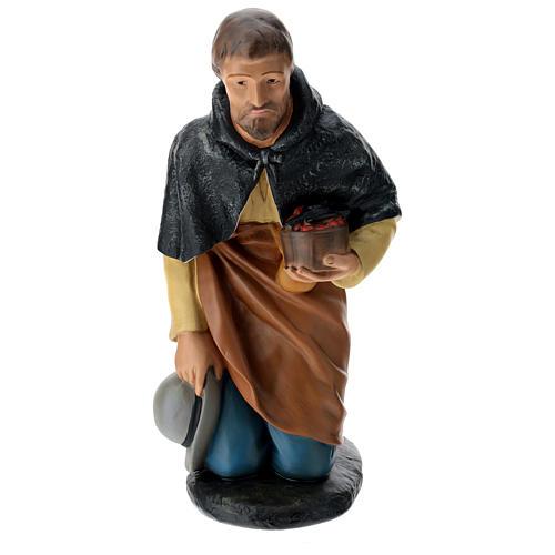 Pastore in ginocchio 60 cm gesso Arte Barsanti 1