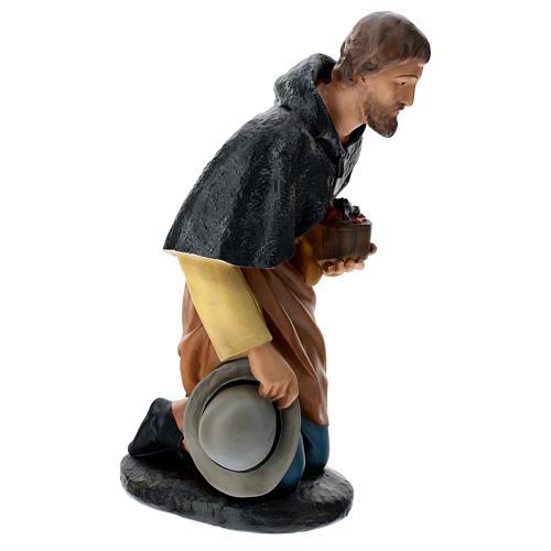 Pastore in ginocchio 60 cm gesso Arte Barsanti 4
