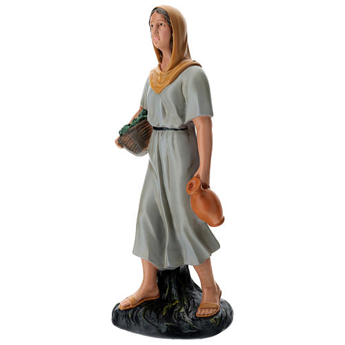 Farmer with vegatbles and jug 60 cm Arte Barsanti 3