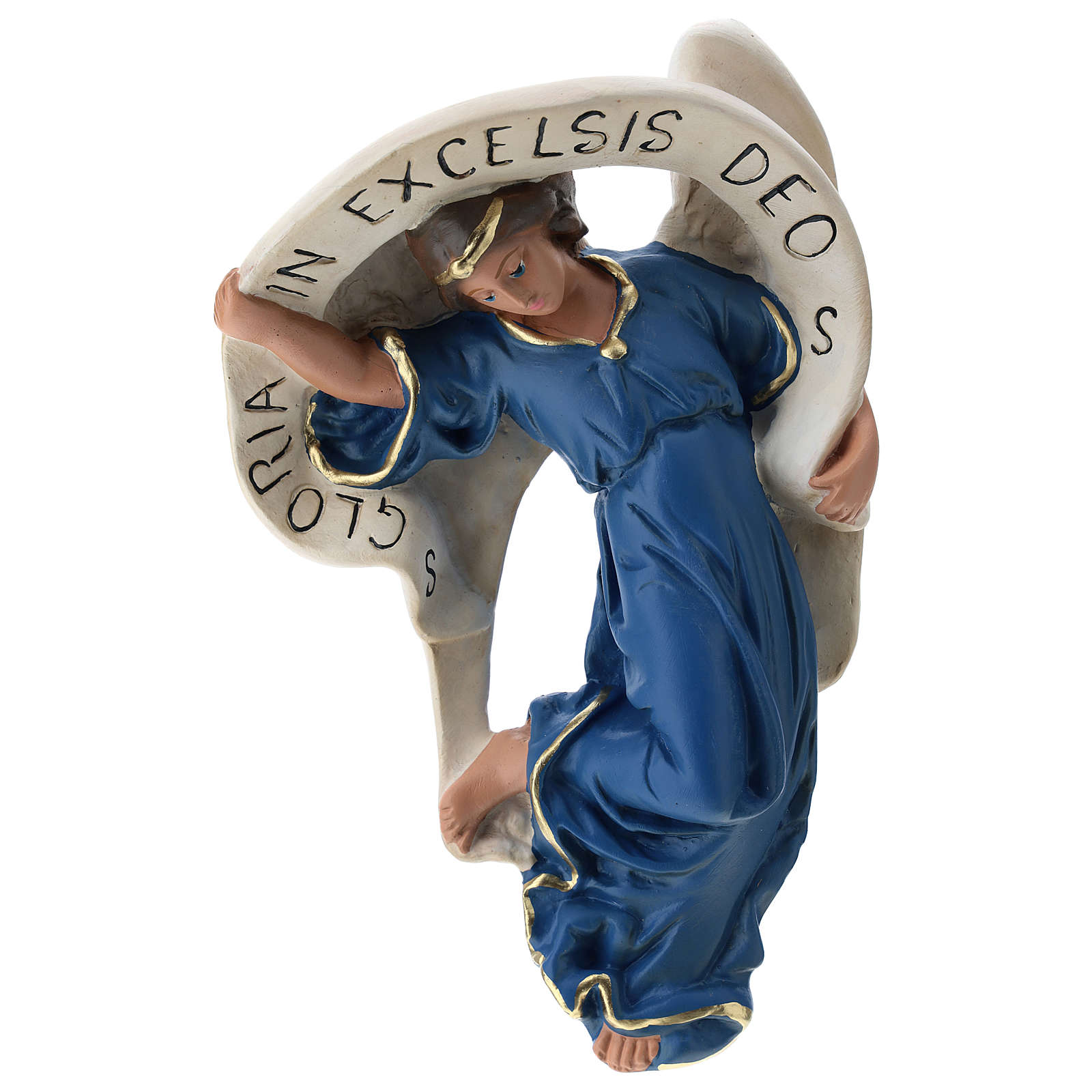 Statua Angelo veste azzurra 60 cm Arte Barsanti 4