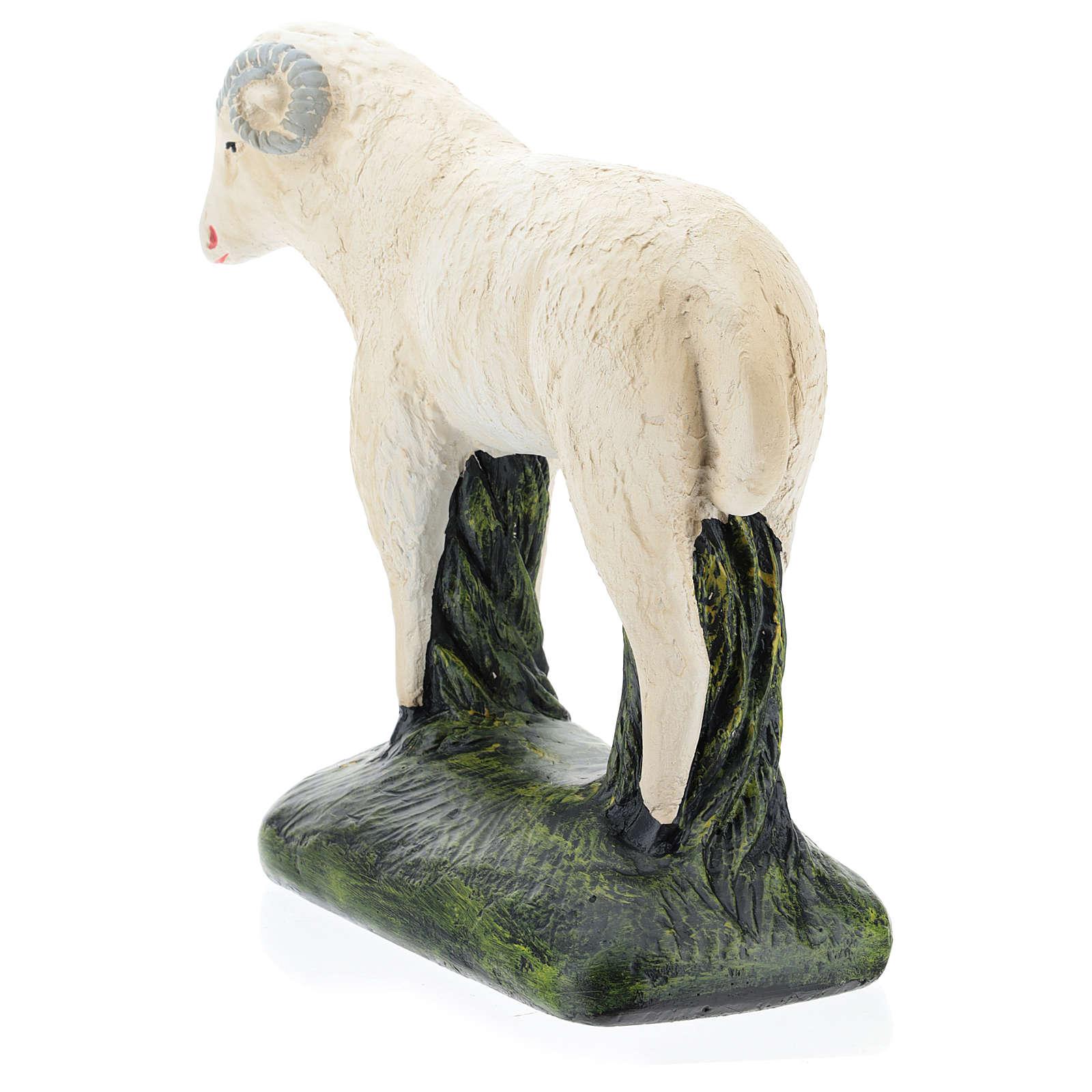 Cabra para belén Arte Barsanti 60 cm yeso pintado a mano 4