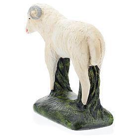 Cabra para belén Arte Barsanti 60 cm yeso pintado a mano s5