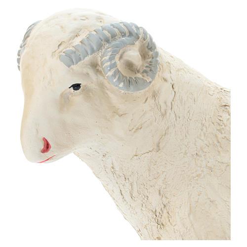 Cabra para belén Arte Barsanti 60 cm yeso pintado a mano 2