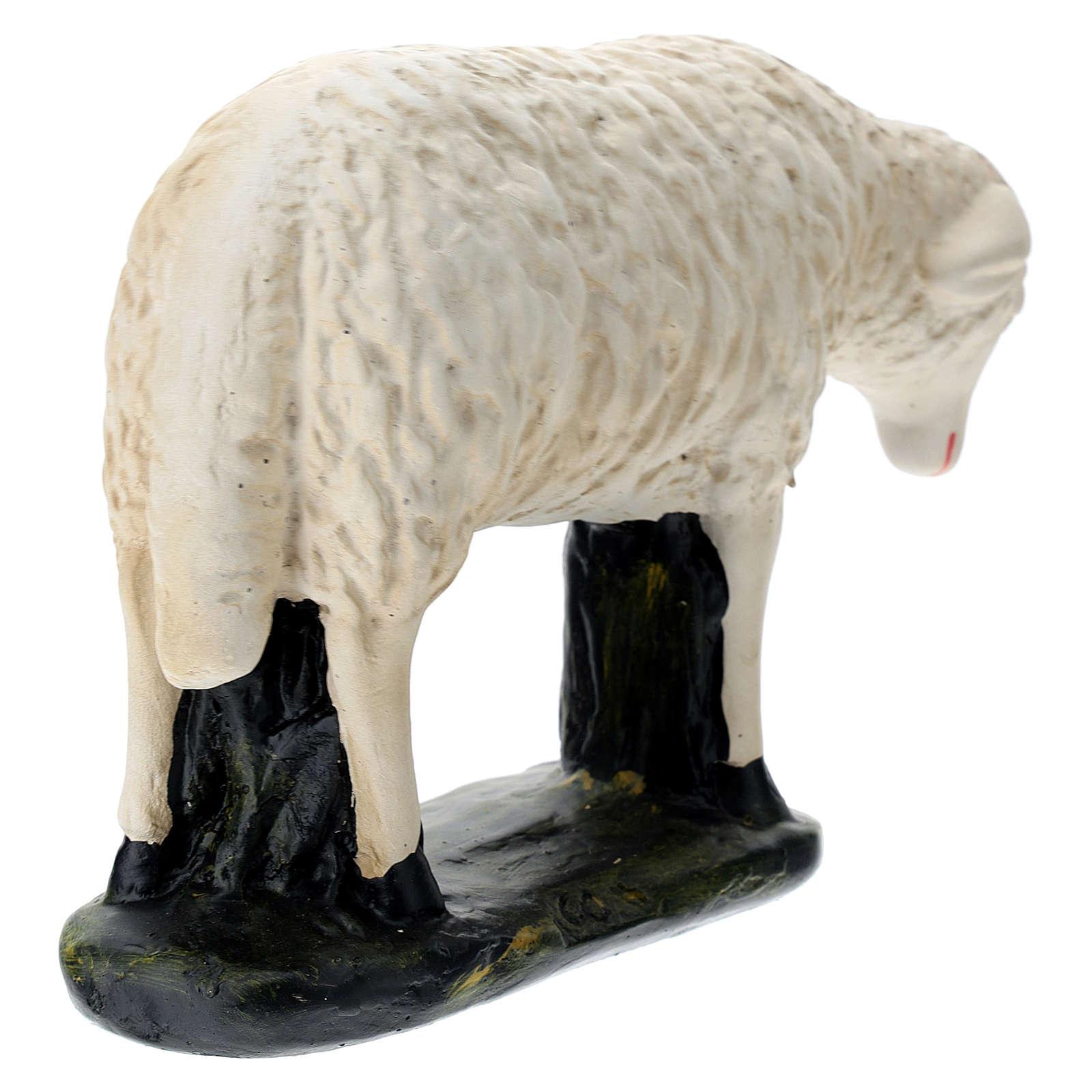 Estatua oveja agachada belén 60 cm Arte Barsanti 4