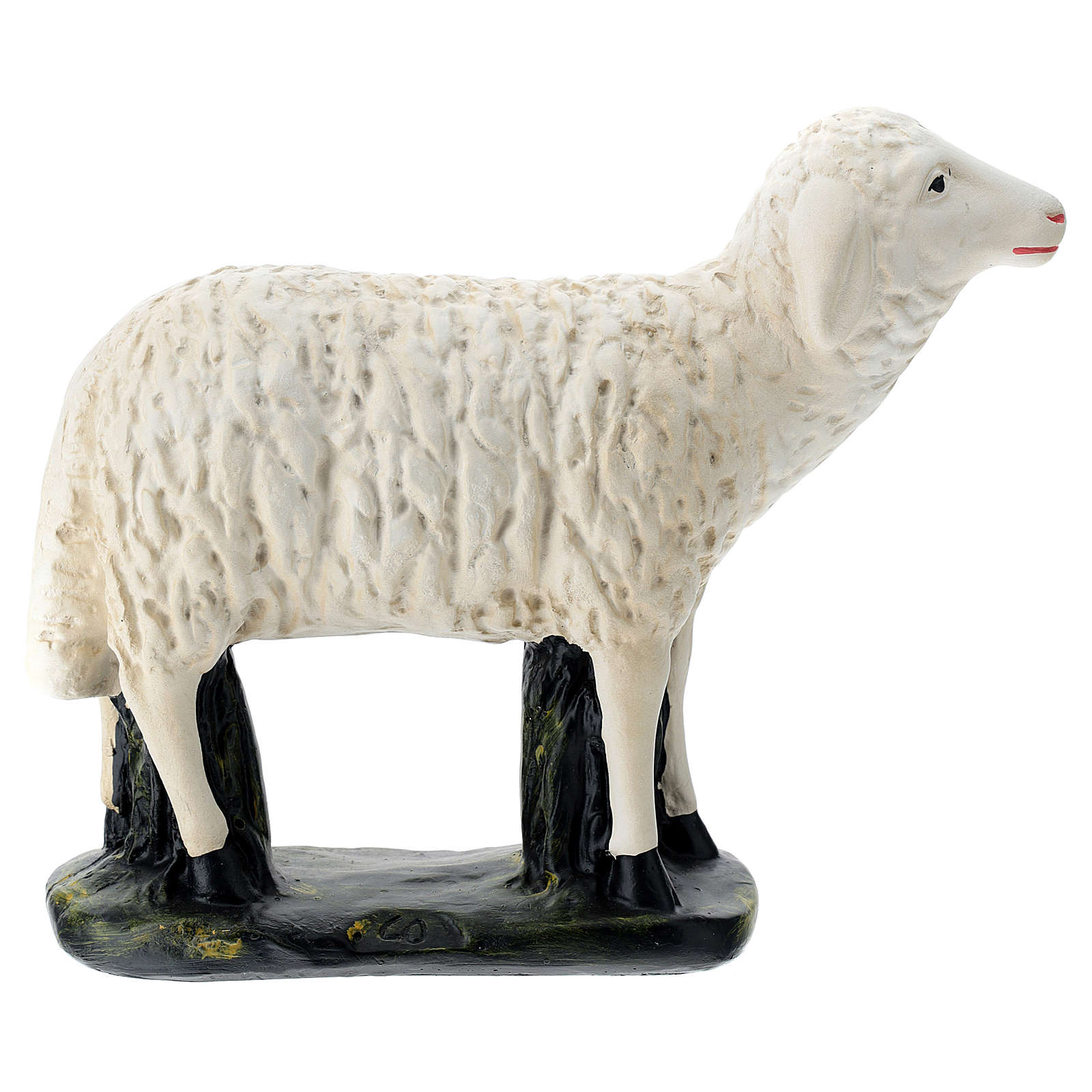 Estatua oveja mirada derecha belén Arte Barsanti 60 cm 4