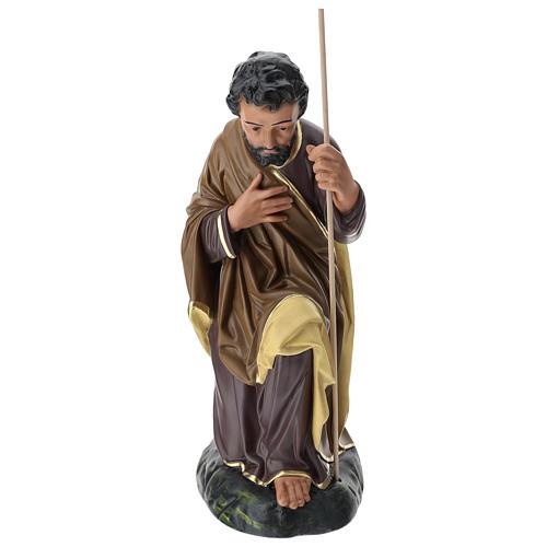 Estatua San José 80 cm yeso pintado a mano Arte Barsanti 1