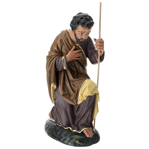 Estatua San José 80 cm yeso pintado a mano Arte Barsanti 3