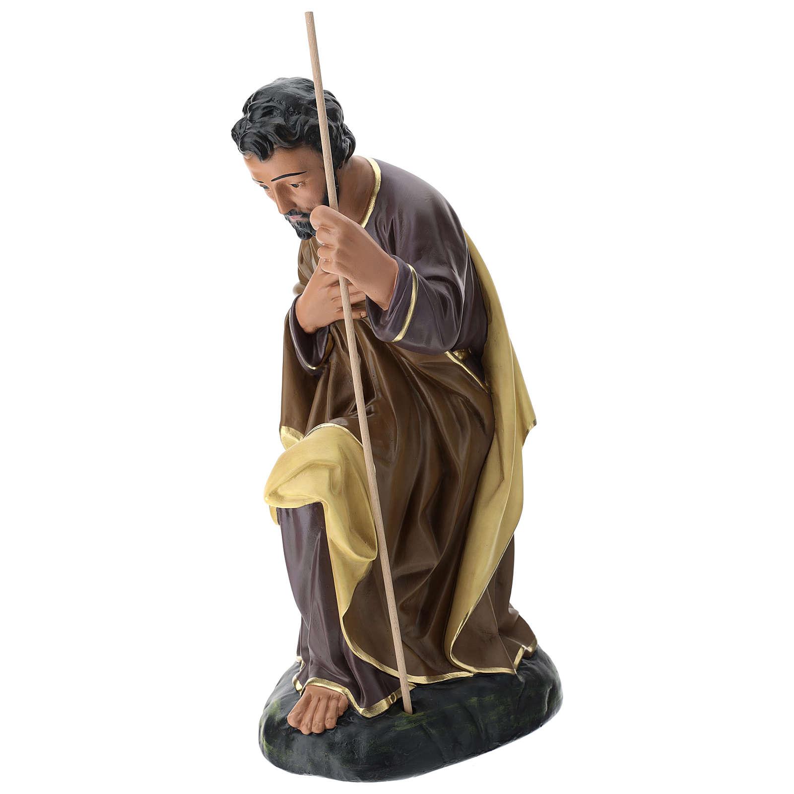 Statua Giuseppe 80 cm gesso dipinto a mano Arte Barsanti 4