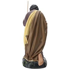 Statua Giuseppe 80 cm gesso dipinto a mano Arte Barsanti s5