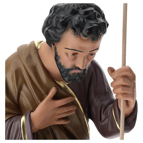 Statua Giuseppe 80 cm gesso dipinto a mano Arte Barsanti 2