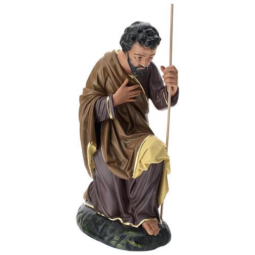 Statua Giuseppe 80 cm gesso dipinto a mano Arte Barsanti 3