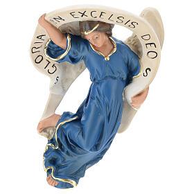 Statua Angelo Gloria veste azzurra presepe 80 cm Arte Barsanti s1