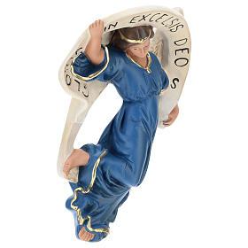 Statua Angelo Gloria veste azzurra presepe 80 cm Arte Barsanti s4